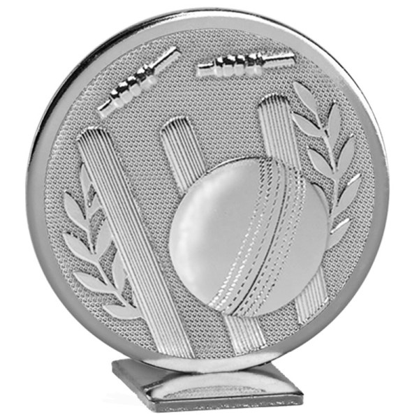 Cricket Self Standing Global Metal Trophy  - Silver