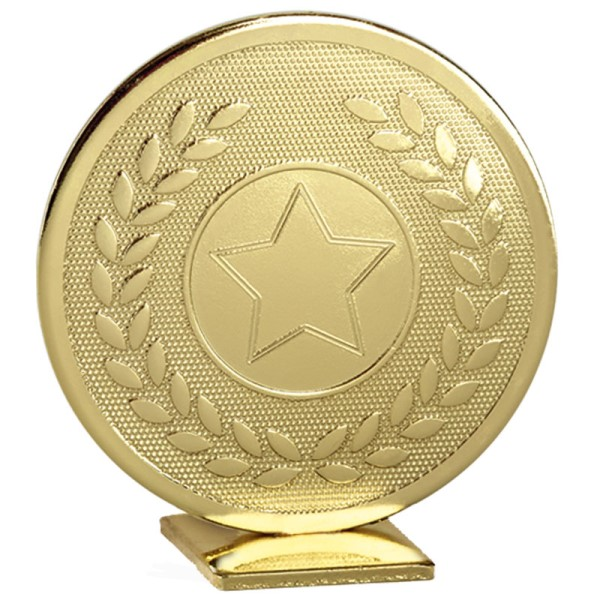 Global Self Standing Metal Trophy - Neutral Gold
