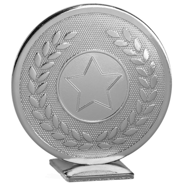 Global Self Standing Metal Trophy - Neutral Silver