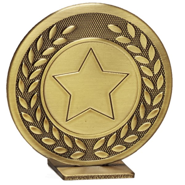 Global Self Standing Metal Trophy - Neutral Bronze