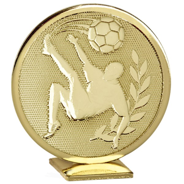 Global Self Standing Metal Trophy - Football Gold