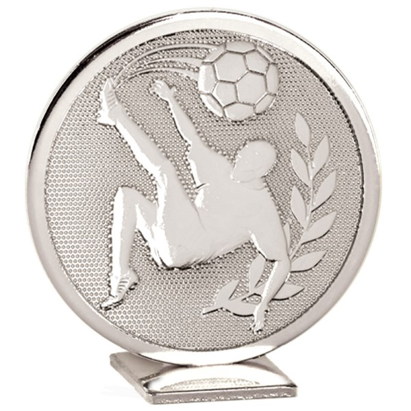 Global Self Standing Metal Trophy - Football Silver