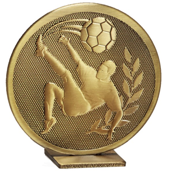 Global Self Standing Metal Trophy - Football Bronze