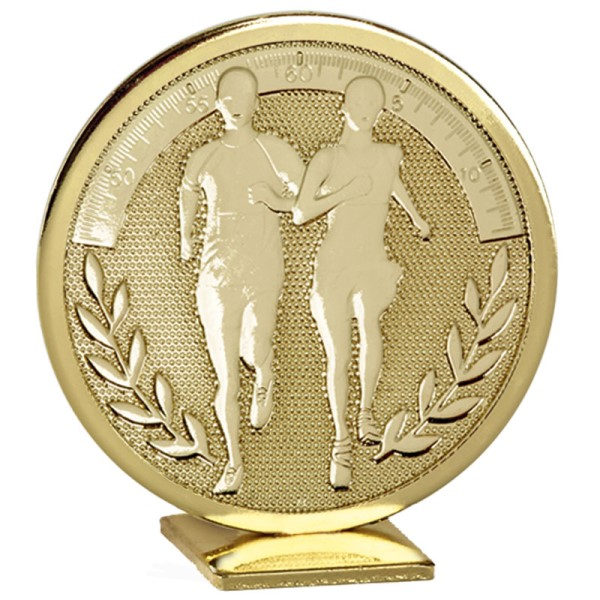 Global Self Standing Metal Trophy - Running Gold