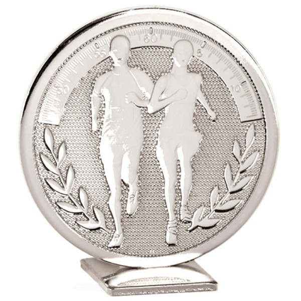 Global Self Standing Metal Trophy - Running Silver