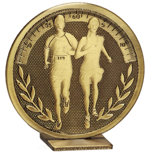 Global Self Standing Metal Trophy - Running Bronze