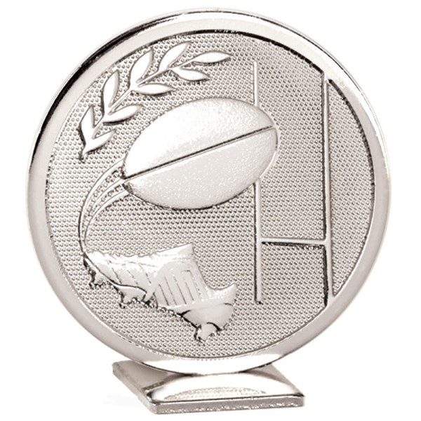 Global Self Standing Metal Trophy - Rugby Silver