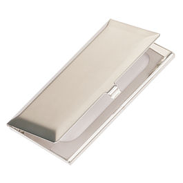 Silver Plated Bevelled Business Card Holder