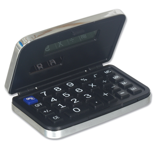Silver Plated Pocket Calculator