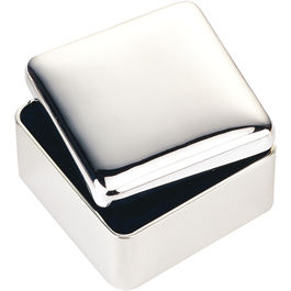 Silver Plated Square Trinket Box
