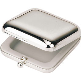 Silver Plated Square Pill box
