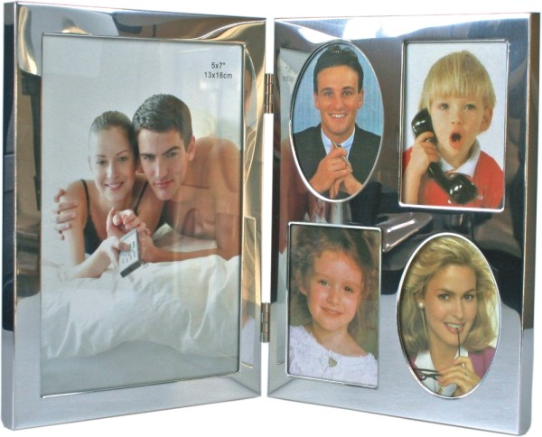 "5"" x 7"" Silver Plated Baby Photo Frame"