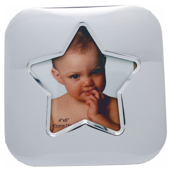 "6"" Silver Baby Star Photo Frame"