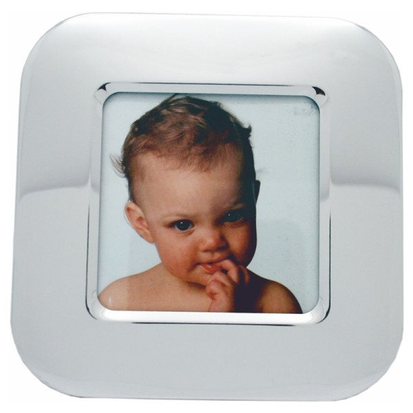 "6"" Silver Coloured Baby Square Photo Frame"