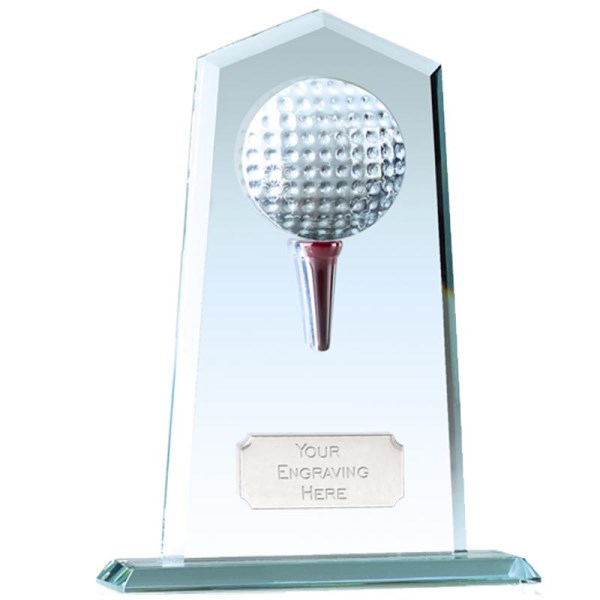 Brompton Golf Jade Glass Trophy