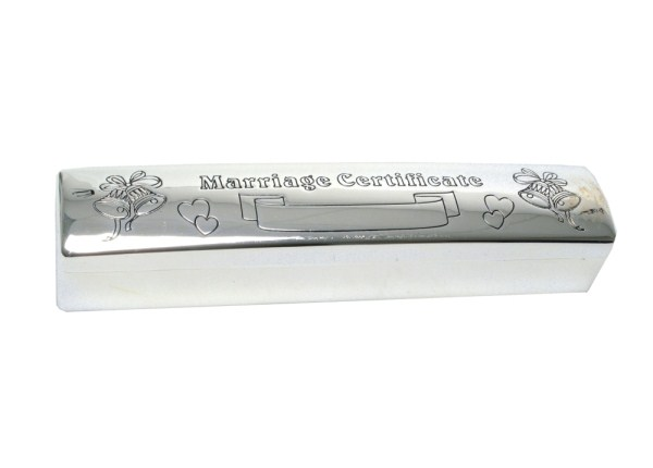 Silver Plated Marriage Certificate Holder