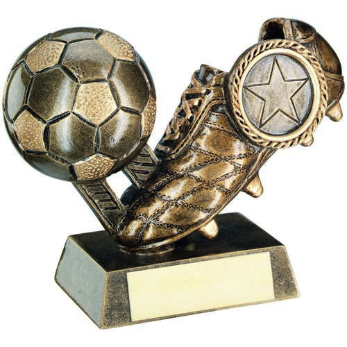 GOLD FOOTBALL & BOOT TROPHY - 4in