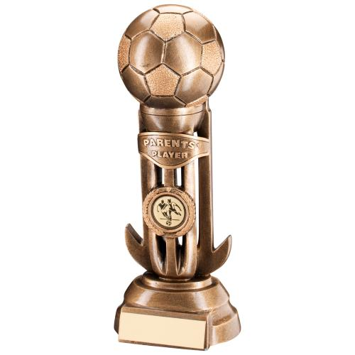Football On Caged Riser Trophy - Parents Player