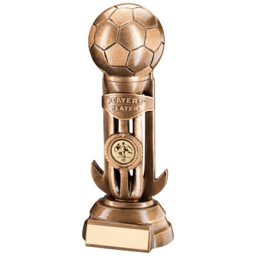 Football On Caged Riser Trophy - Players Player