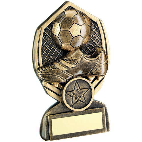 GOLD FOOTBALL DIAMOND TROPHY - 3.75in