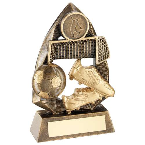 BRZ/GOLD FOOTBALL DIAMOND COLLECTION TROPHY (1in CENTRE) - 6.5in