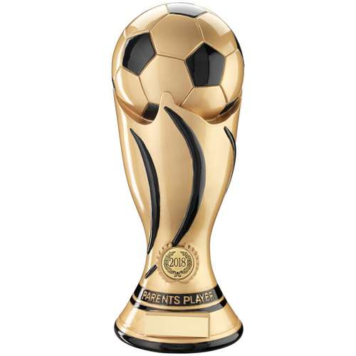FOOTBALL SWIRL COLUMN TROPHY (1in CENTRE) - PARENTS PLAYER