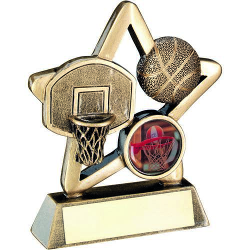 BASKETBALL MINI STAR TROPHY - 3.75in