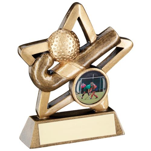 GOLD HOCKEY MINI STAR TROPHY - 3.75in