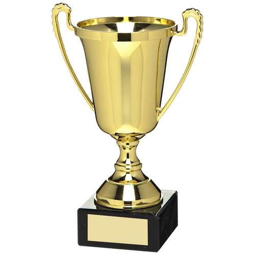 GOLD PLASTIC CUP TROPHY - 7in