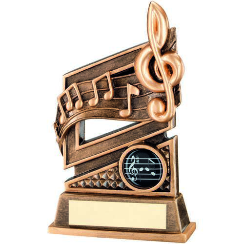 BRZ/GOLD MUSIC DIAMOND SERIES TROPHY - (1in CENTRE) 6in