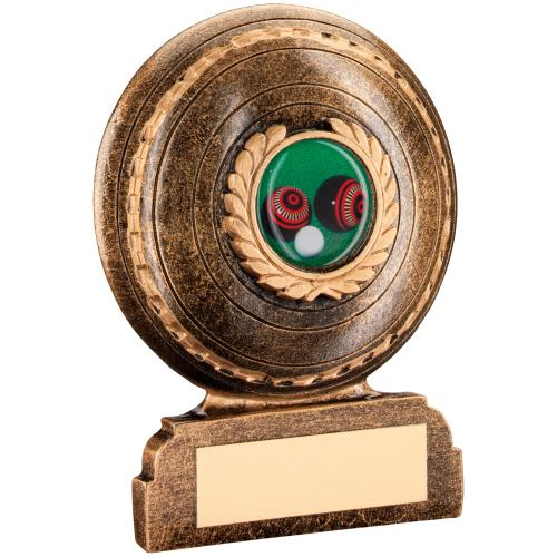 BRZ/GOLD RESIN LAWN BOWLS TROPHY - (1in CENTRE) 3.5in