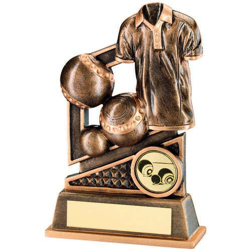 BRZ/GOLD LAWN BOWLS DIAMOND SERIES TROPHY - (1in CENTRE) 4.75in