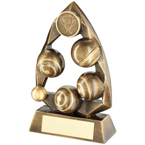 BRZ/GOLD LAWN BOWLS DIAMOND COLLECTION TROPHY (1in CENTRE) - 6.5