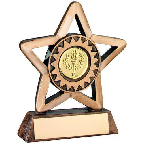 Outline Star Resin Holder Award - 9.5cm
