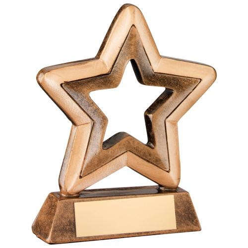 Micro Resin Outline Star Trophy