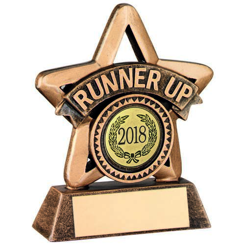 Outline Star Resin RUNNER UP Trophy - 9.5cm