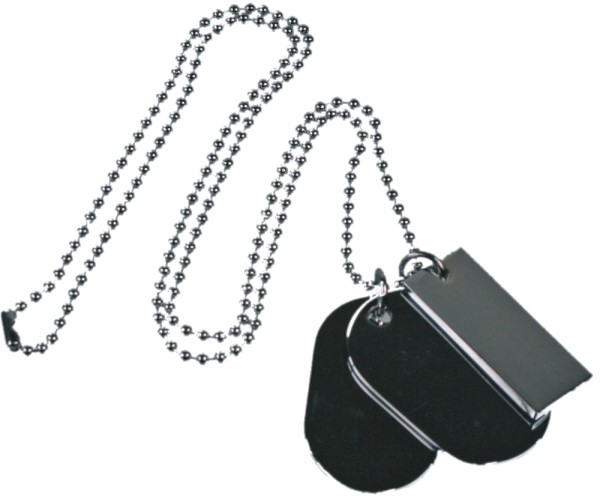 Set of 3 Military style Dog Tags