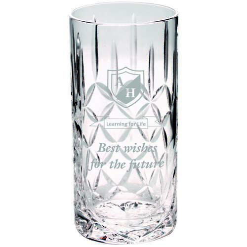 405ML HIGHBALL GLASS TUMBLER - BLANK PANEL 6in