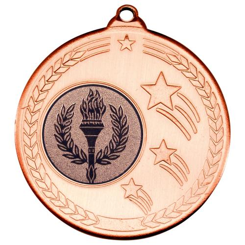 Shooting Star Medal - Bronze (1in Centre) 2in