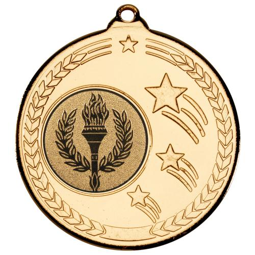 Shooting Star Medal - Gold (1in Centre) 2in