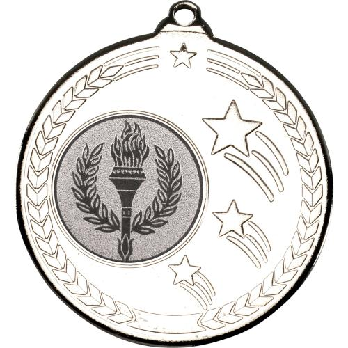 Shooting Star Medal - Silver (1in Centre) 2in