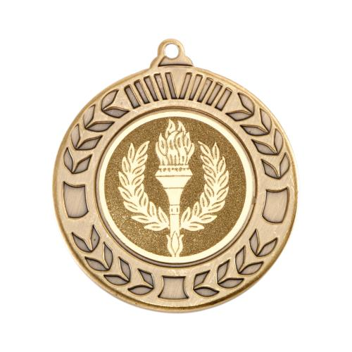 Wreath Medal - Antique Gold (1in Centre) 1.57in