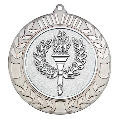 Wreath Medal - Antique Silver (2in Centre) 2.75in