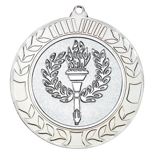 Wreath Medal - Silver (2in Centre) 2.75in