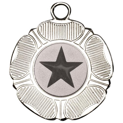Tudor Rose Medal - 50mm Silver