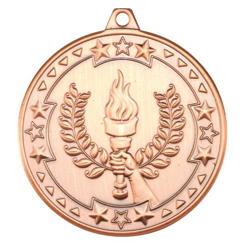 Victory Torch 'Tri Star' Medal - Bronze 2in
