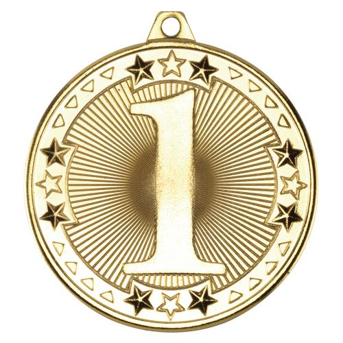 Tri Star' Medal - 1St Gold 2in