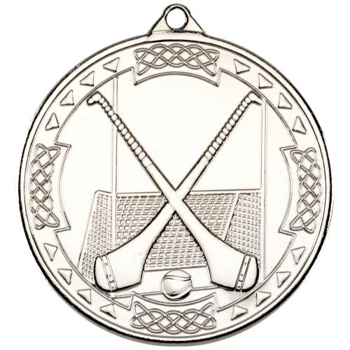 Hurling Celtic Medal - Silver 2in