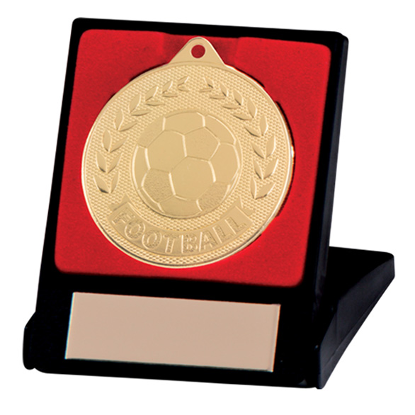Discovery Football Medal & Box Gold 50mm