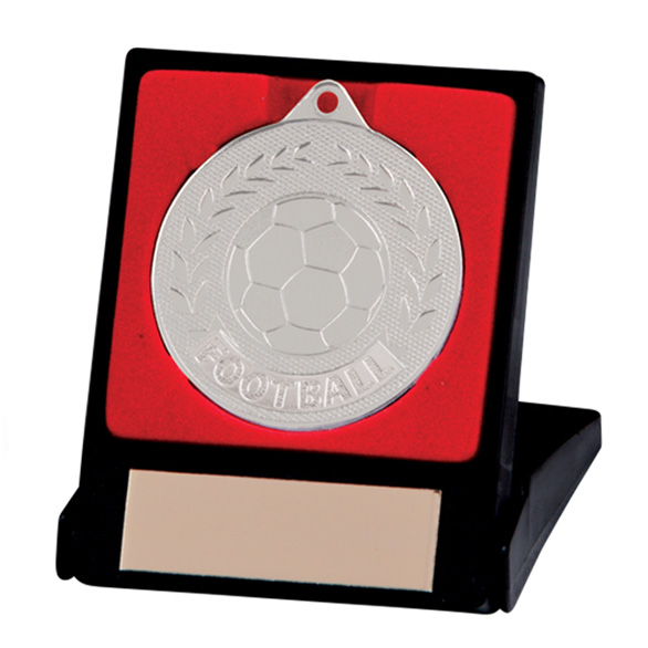 Discovery Football Medal & Box Silver 50mm